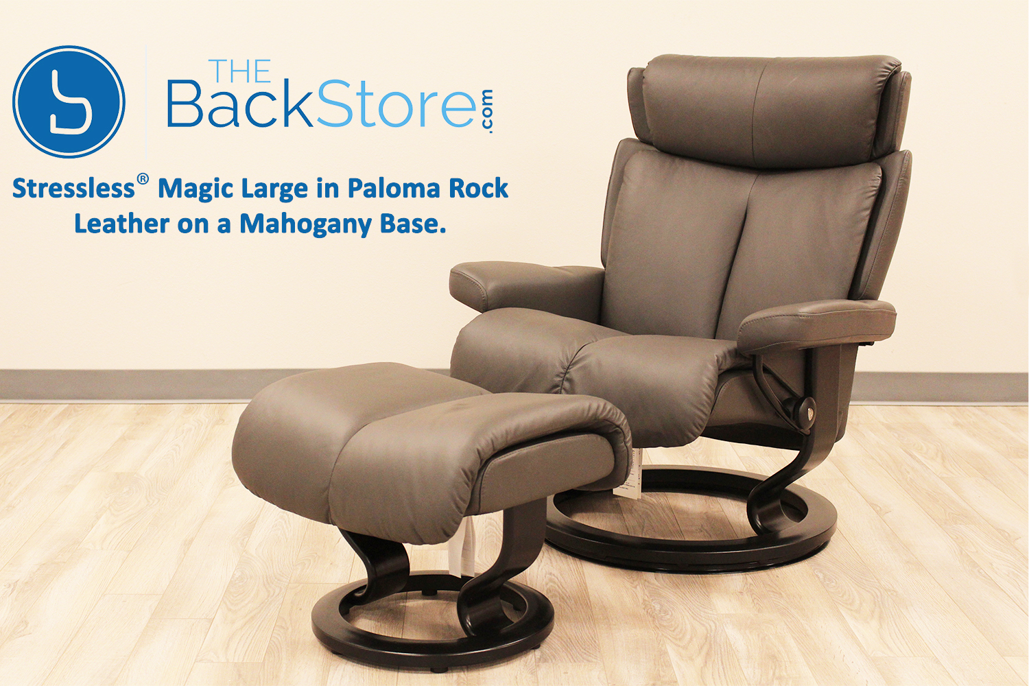Stressless Magic Medium Paloma Rock Color Leather By