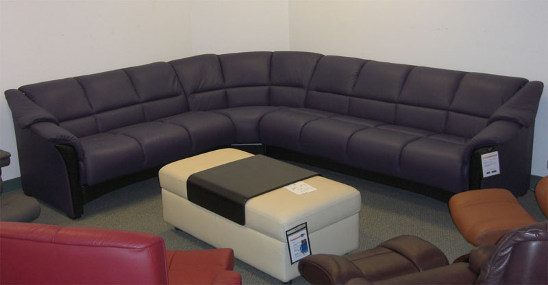Stressless Oslo Indigo Purple Leather Sofa, Couch, LoveSeat And Chair By  Ekornes
