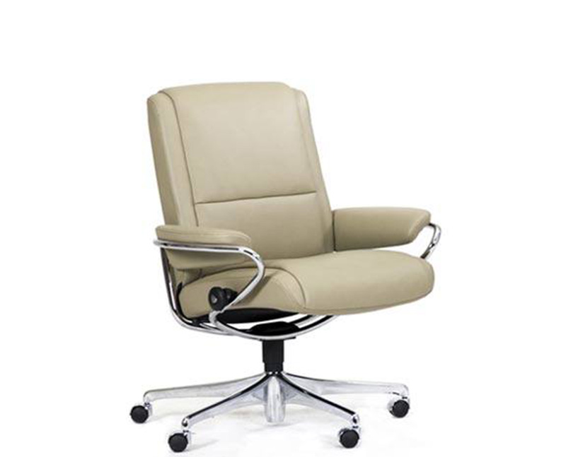 Stressless Paris Low Back Office Desk Recliner Chair By Ekornes