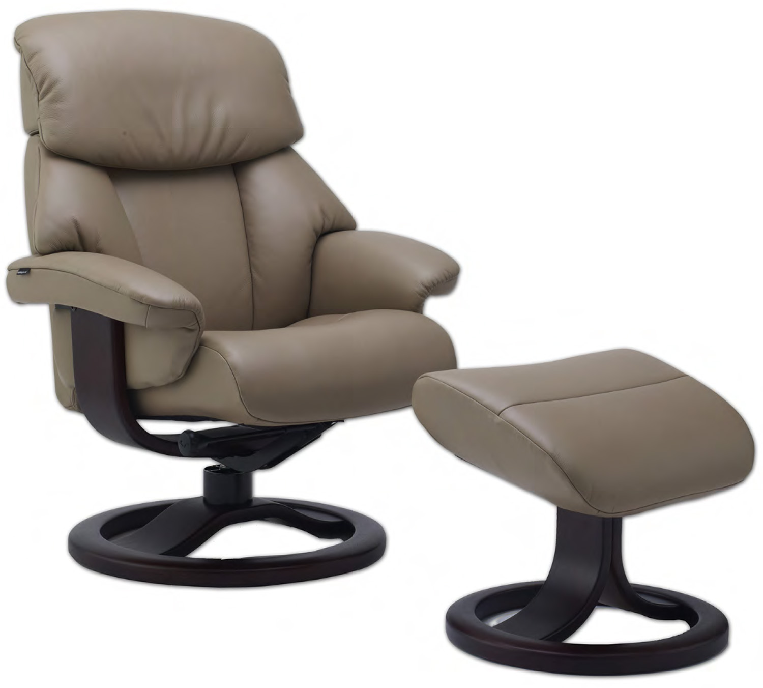 Fjords Alfa 520 Ergonomic Leather Recliner Chair Ottoman Scandinavian Norwe