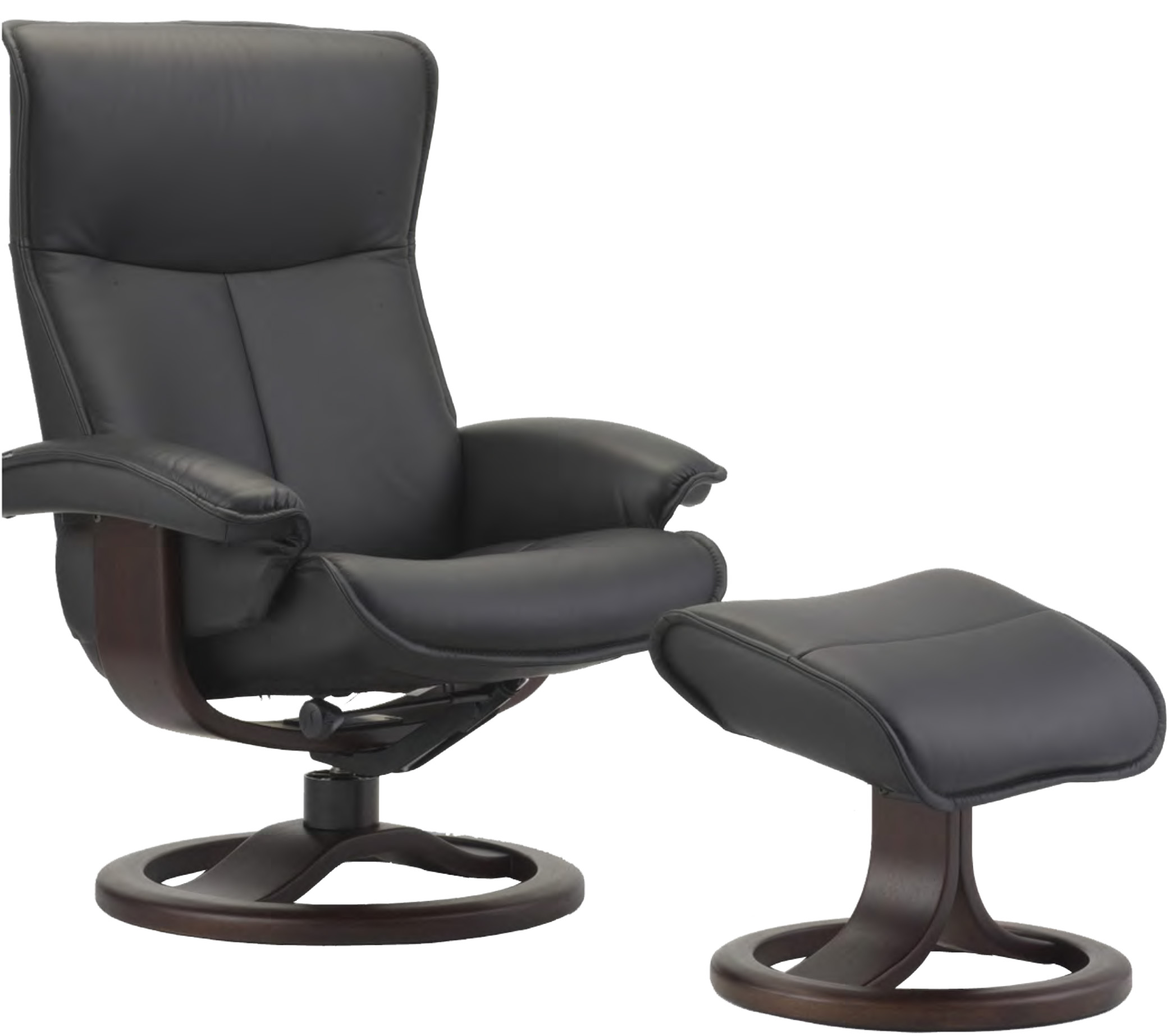 Fjords Senator Ergonomic Leather Recliner Chair Ottoman Scandinavian Norweg