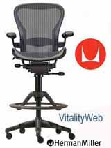 New Herman Miller Aeron Desk Task Stool Office Chair