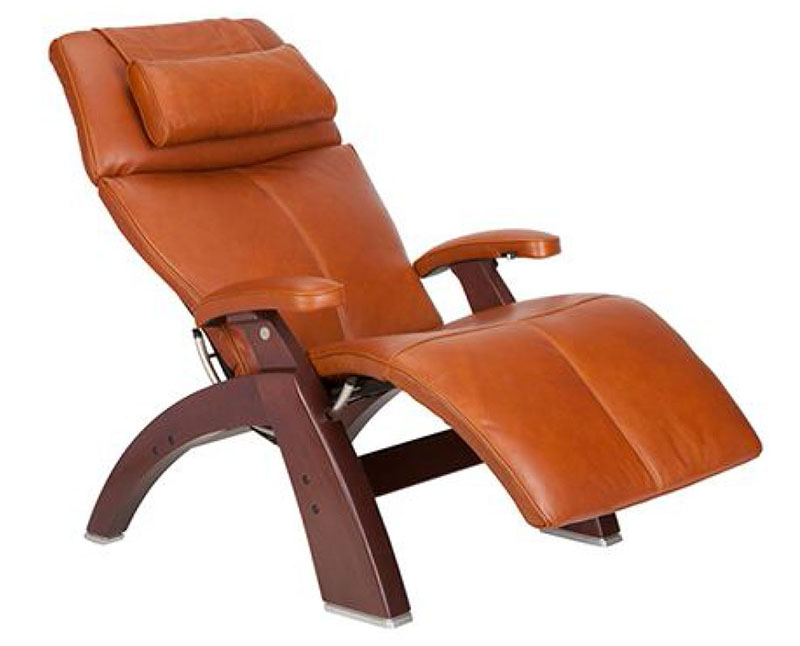 Cognac Premium Leather Chestnut Wood Base Series 2 Classic Perfect Chair  Zero Gravity Power Recliner By