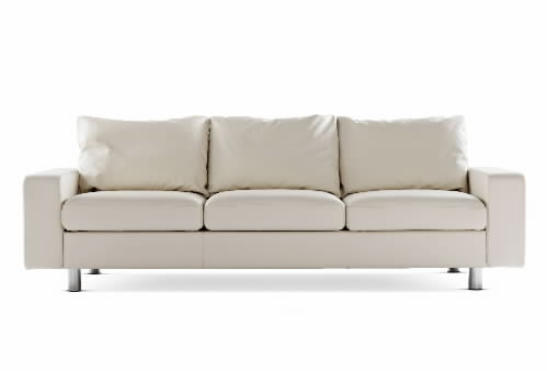 Stressless E200 3 Seat Leather Sofa Ergonomic Sectional Couch With Matching  Cushions By Ekornes