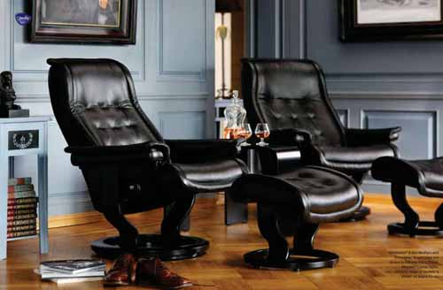 Stressless Royal Leather Recliner Chair and Ottoman - Stressless Royal Recliner Black Leather by Ekornes & Stressless Oxford Recliner Chair Ergonomic Lounger and Ottoman by ... islam-shia.org