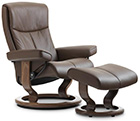 Stressless Classic Base Recliner Chair and Ottoman