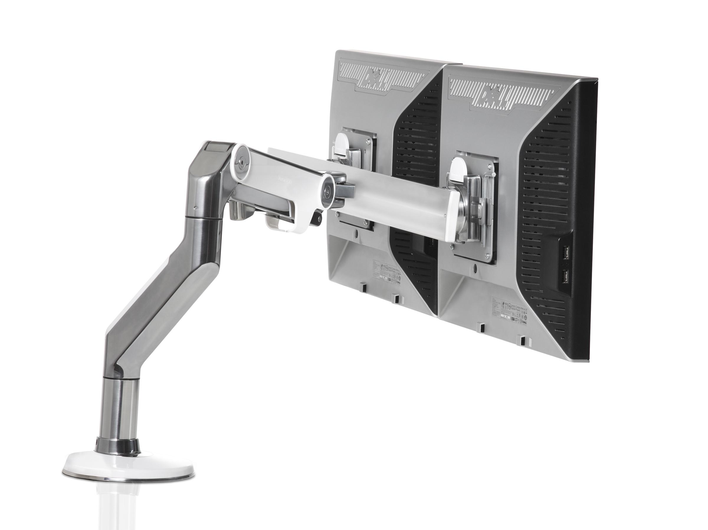 Humanscale M8 Dual Monitor Arm With Crossbar Ergonomic