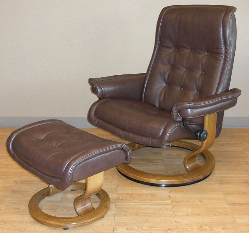 Stressless Royalin Dark Brown Leather By Ekornes